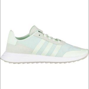 NWOTAdidas FLB Running Shoe,Aero Green,White,Size9